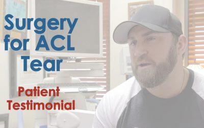 ACL Repair Patient Testimonial