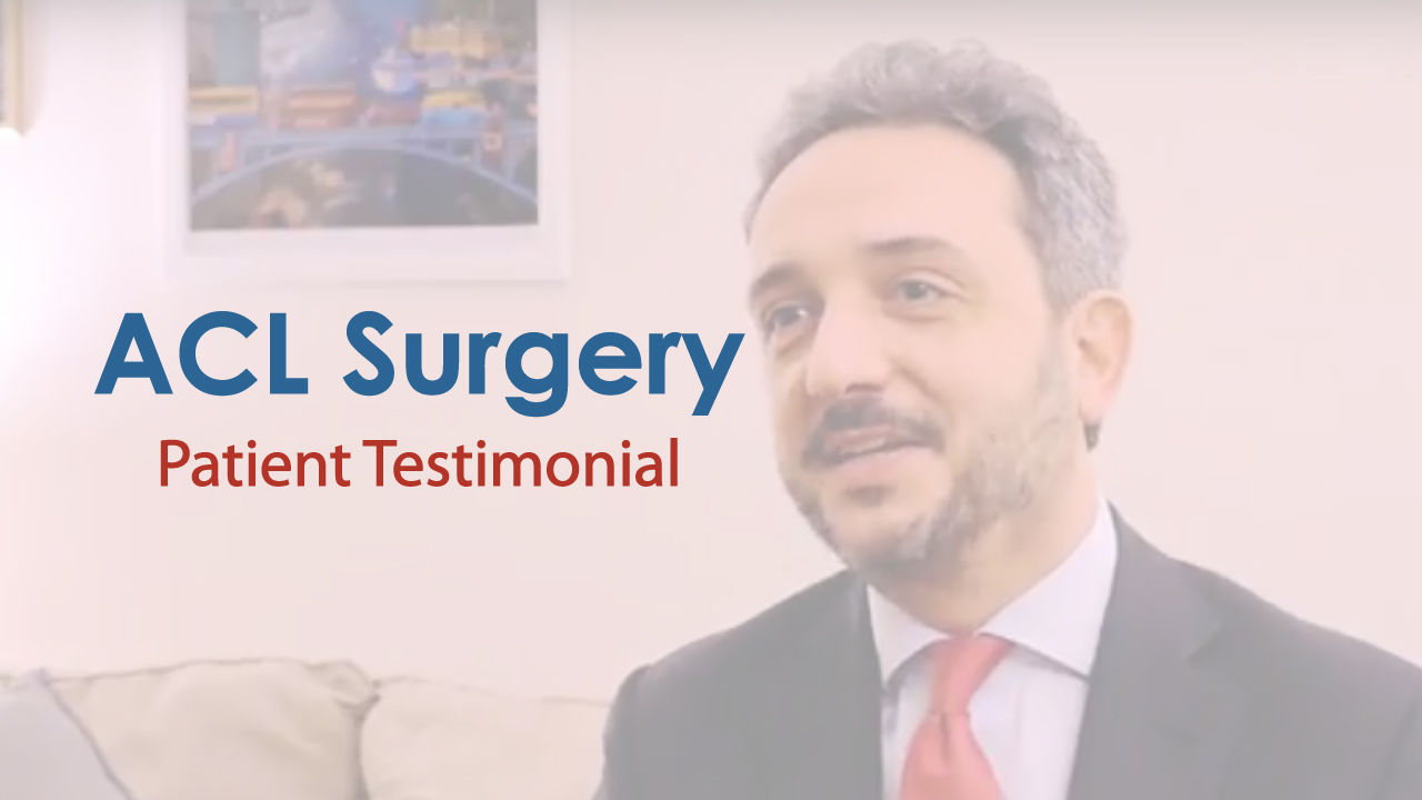 Acl Surgery Testimonial Orthopedic Surgeon Nyc